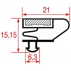 GUARNIZIONE AD INCASTRO 1550X660 MM    CODICE 3186861