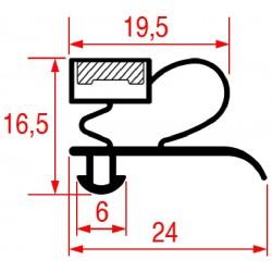 3186928 GUARNIZIONE AD INCASTRO 1530X660 MM    CODICE